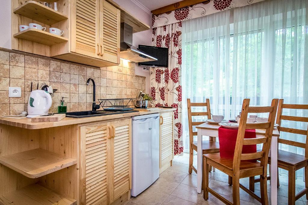 Kuchnia lub aneks kuchenny w obiekcie Aparthotel Pod Nosalem