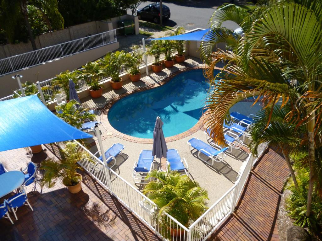 A view of the pool at Le Lavandou Holiday Apartments or nearby