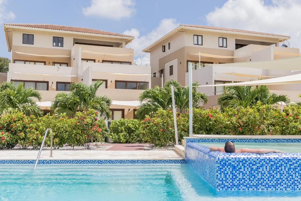 The swimming pool at or near Green View at Blue Bay Curacao