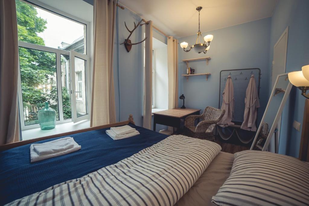 Кровать или кровати в номере Cuba Hostel