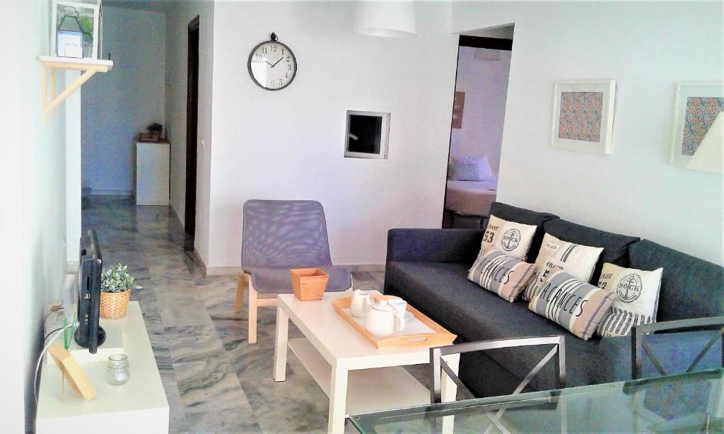 Zona de estar de Apartamento Malagueta