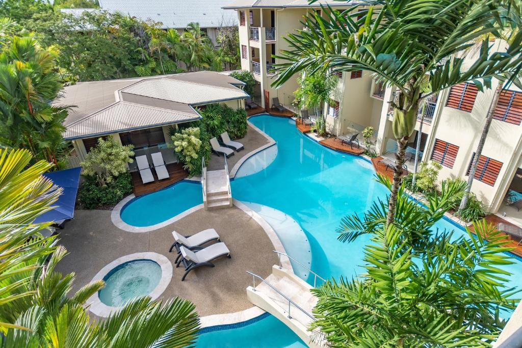 A view of the pool at Meridian at Port Douglas or nearby