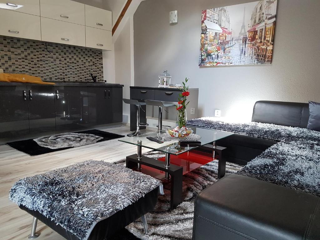 Posezení v ubytování Mima Apartments