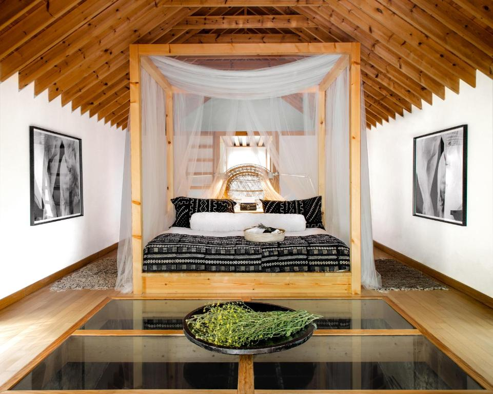 A bed or beds in a room at Molino Tejada