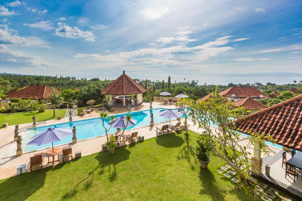 A view of the pool at Taman Surgawi Resort & Spa or nearby