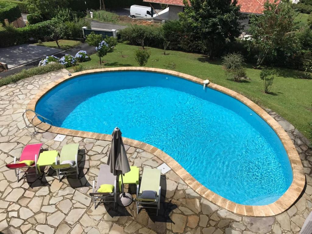 A view of the pool at Guest house Maison Iratzean or nearby