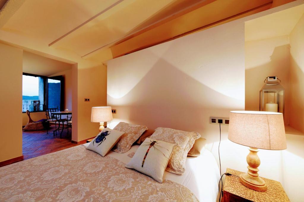 Cama o camas de una habitación en Dalt Vila