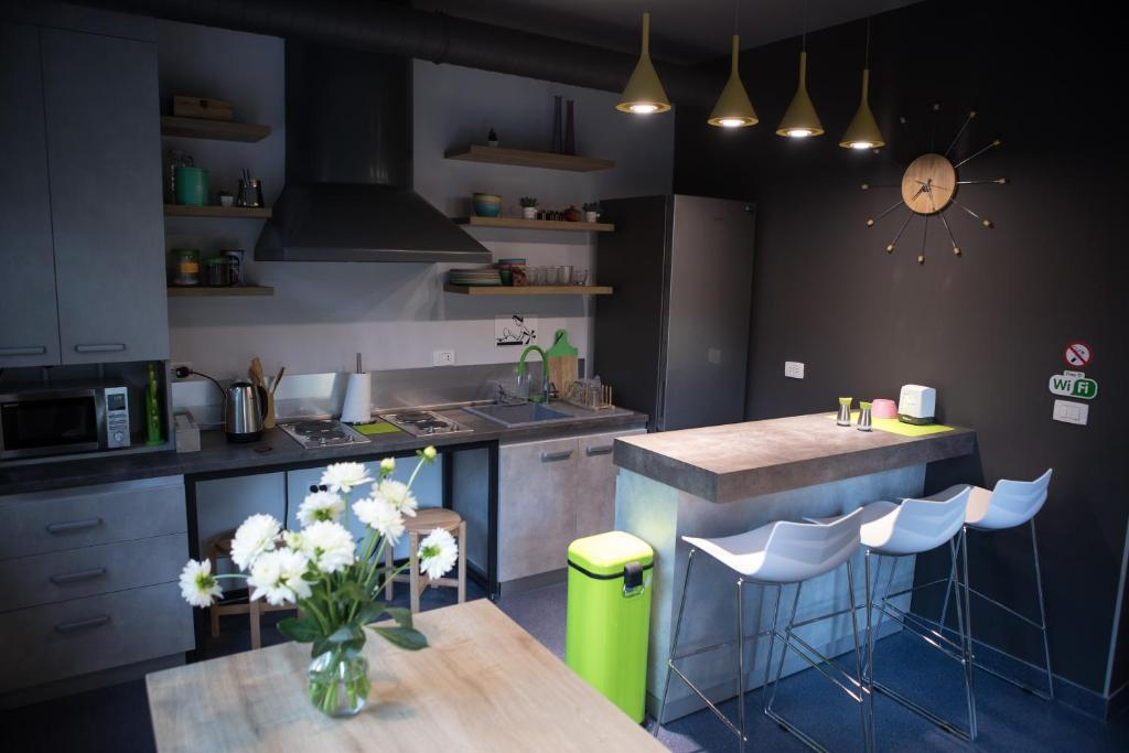 A kitchen or kitchenette at Youth Hostel