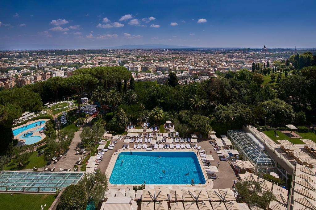 A view of the pool at Rome Cavalieri, A Waldorf Astoria Hotel or nearby