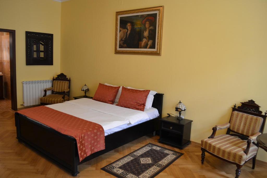 Cama o camas de una habitación en Casa Republicii