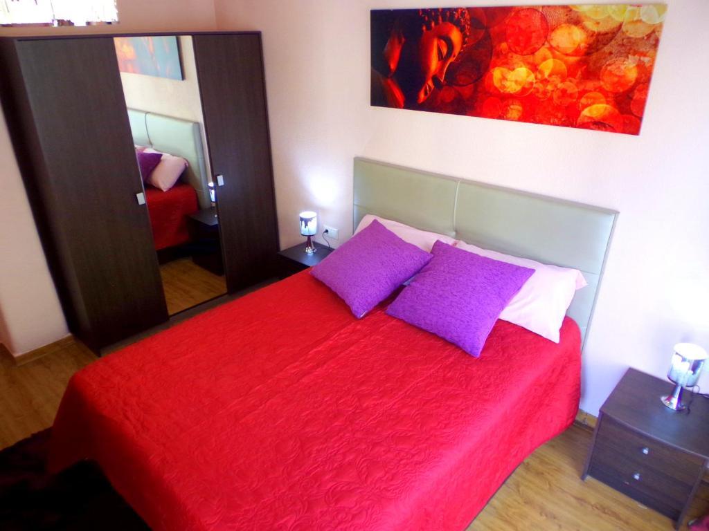 Cama o camas de una habitación en Explanada Beach Deluxe Flat