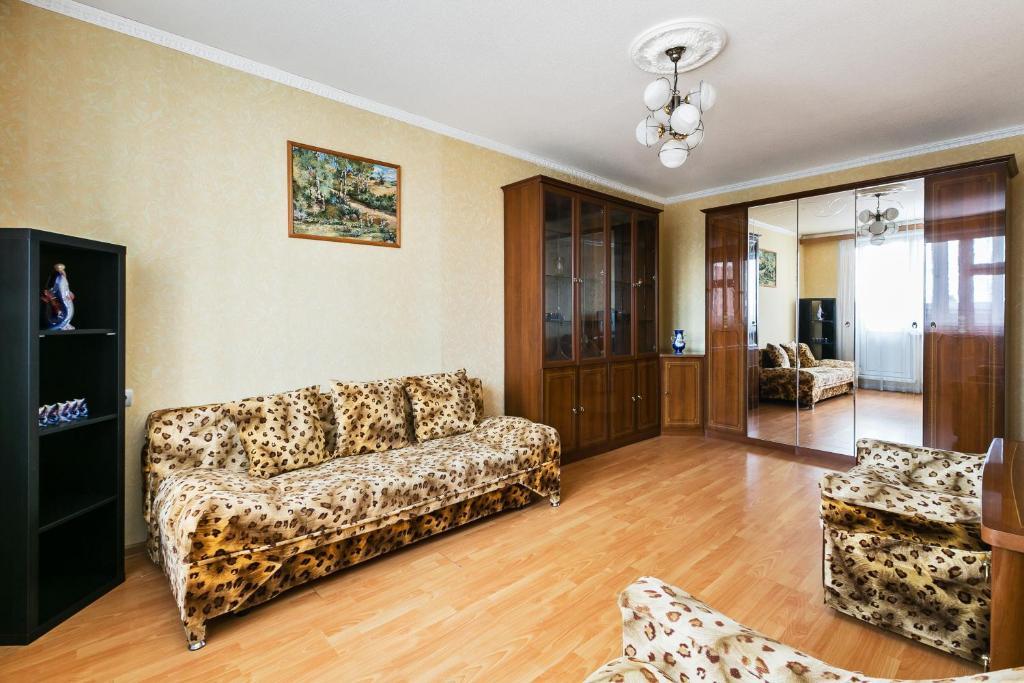 Гостиная зона в Apartment Nice Ulitsa 1905 Goda