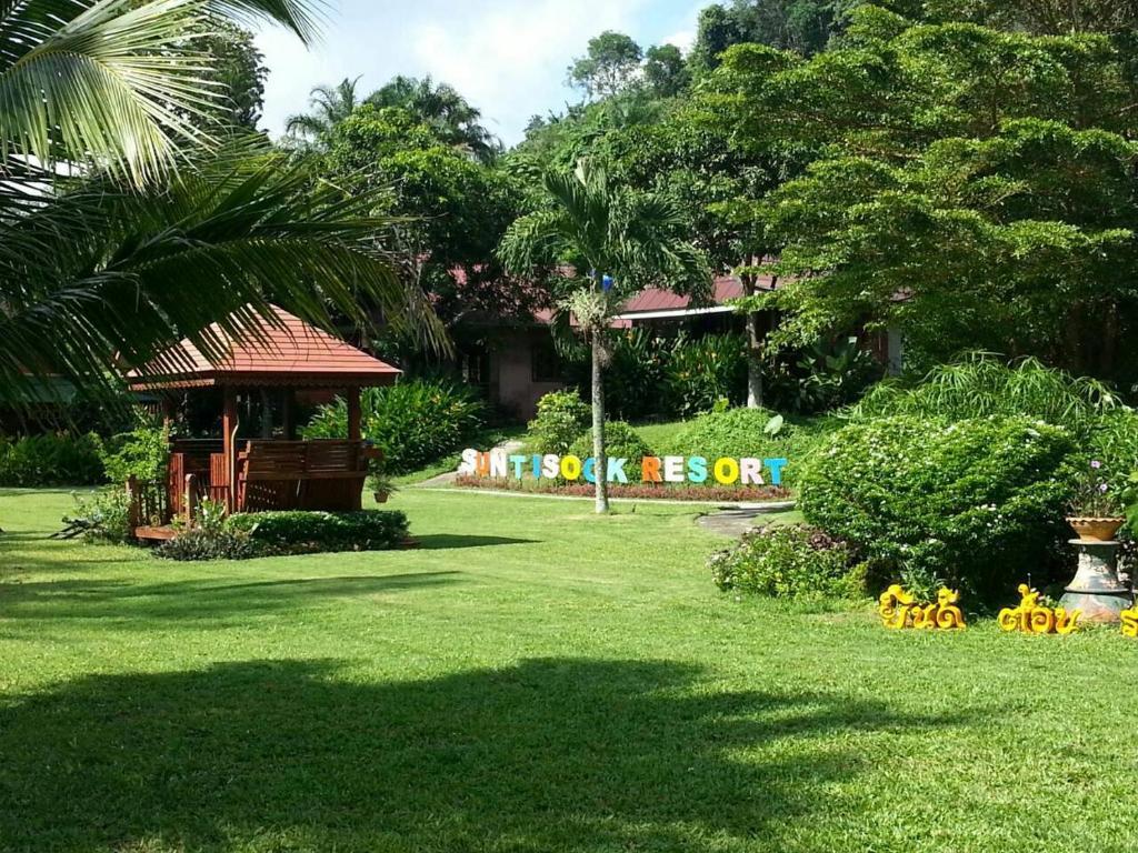 A garden outside Suntisook Resort
