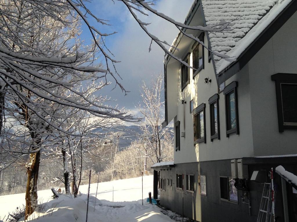 Hakuba Slopeside Chalet during the winter