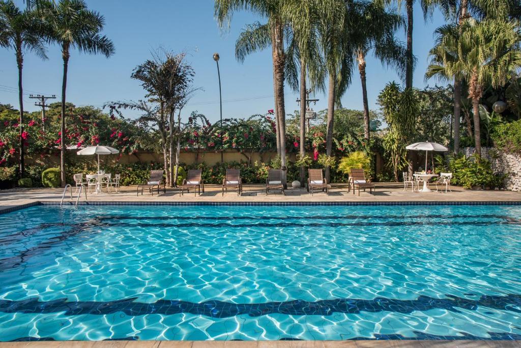 The swimming pool at or near Hotel Nacional de Rio Preto - Distributed by Intercity