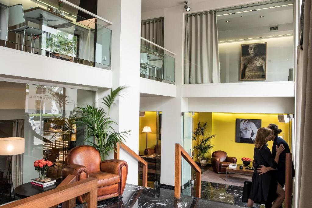The lobby or reception area at Hotel Miró