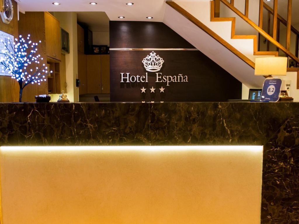 El lobby o recepción de Hotel España