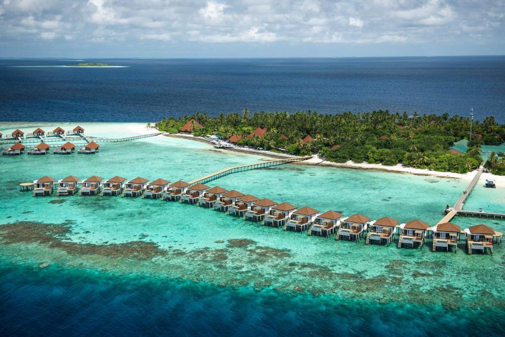 Blick auf Robinson Club Maldives Adults Only aus der Vogelperspektive