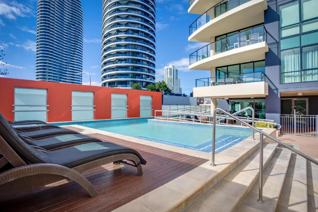 The swimming pool at or near Mantra Broadbeach on the Park