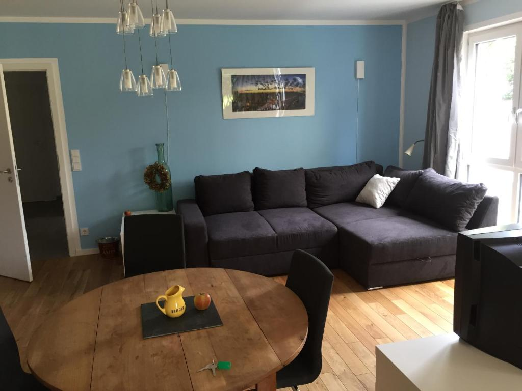 A seating area at Apartment nahe Villenviertel