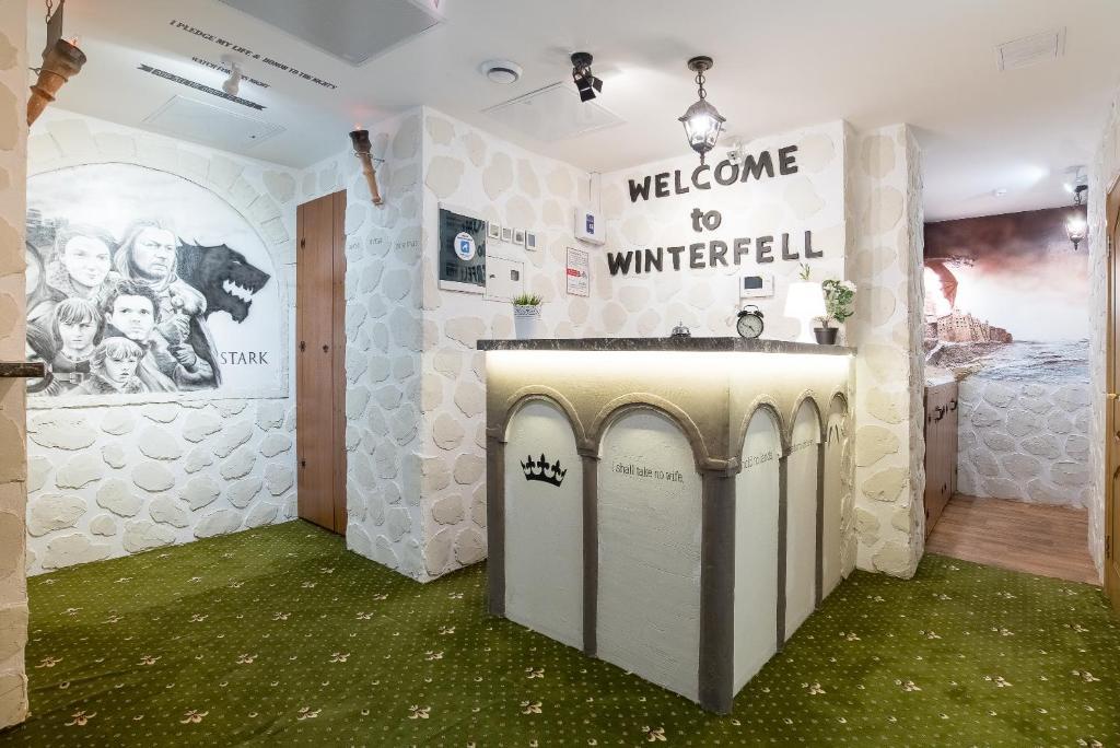 Ванная комната в Отель Винтерфелл Тверская