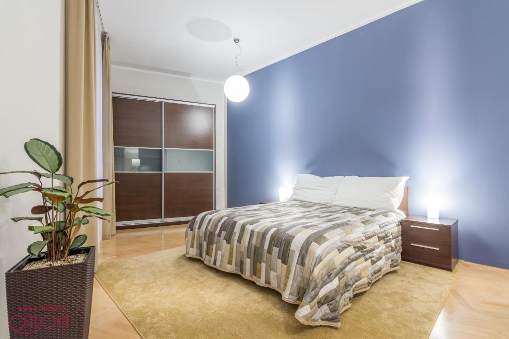 Een bed of bedden in een kamer bij Rezidence Ostrovní