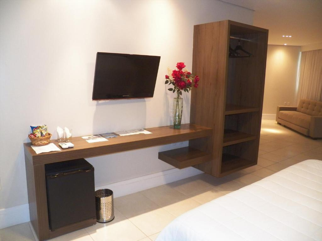 A television and/or entertainment center at Passer Hotel