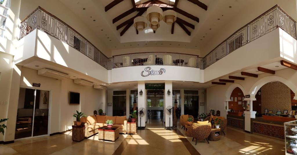 The lobby or reception area at Sienatel