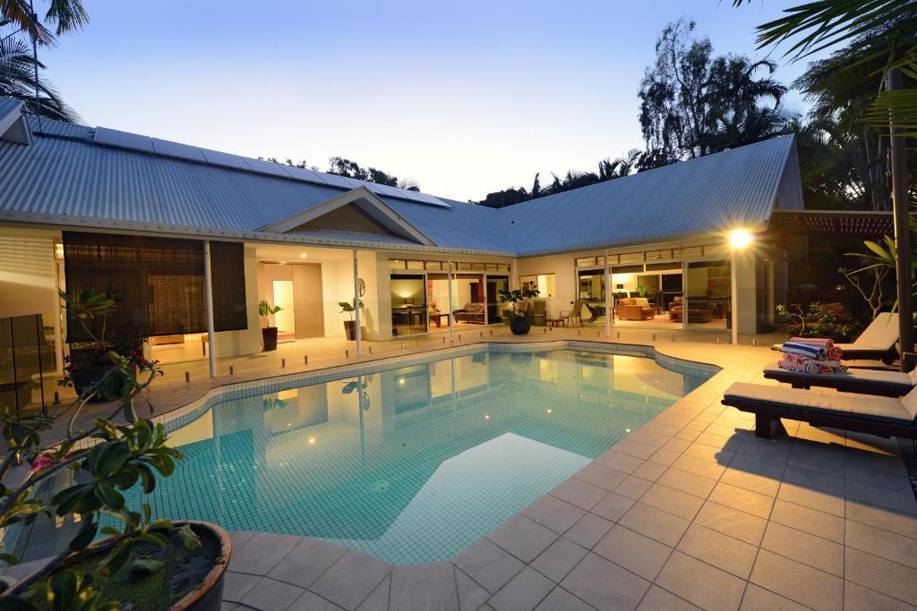 The swimming pool at or near Shankara