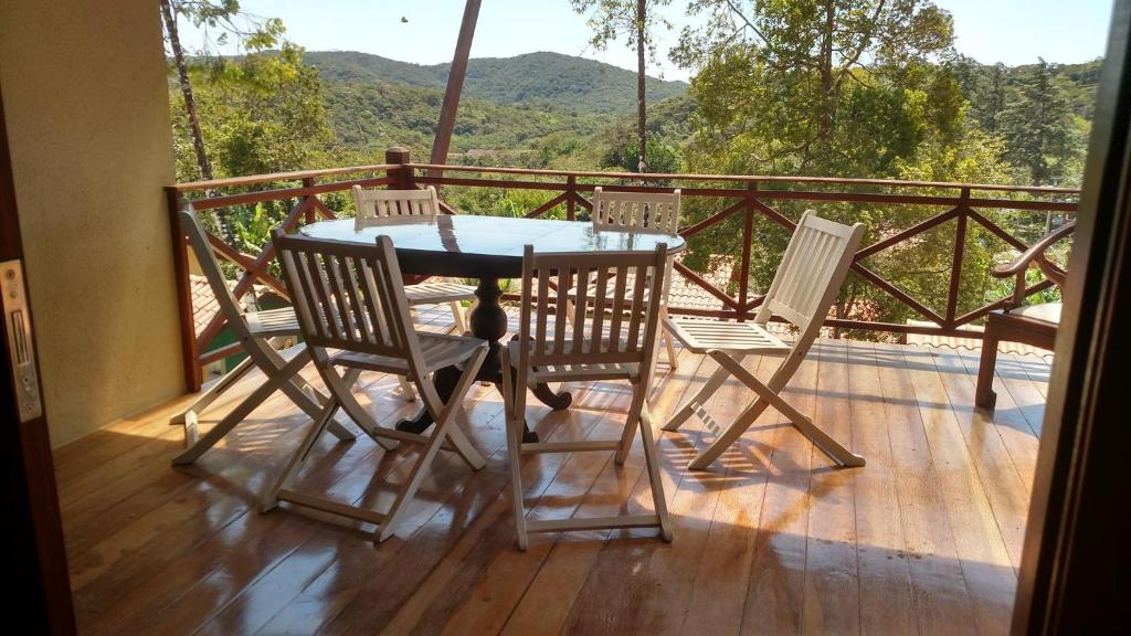 A balcony or terrace at Guaramiranga Monte Verde