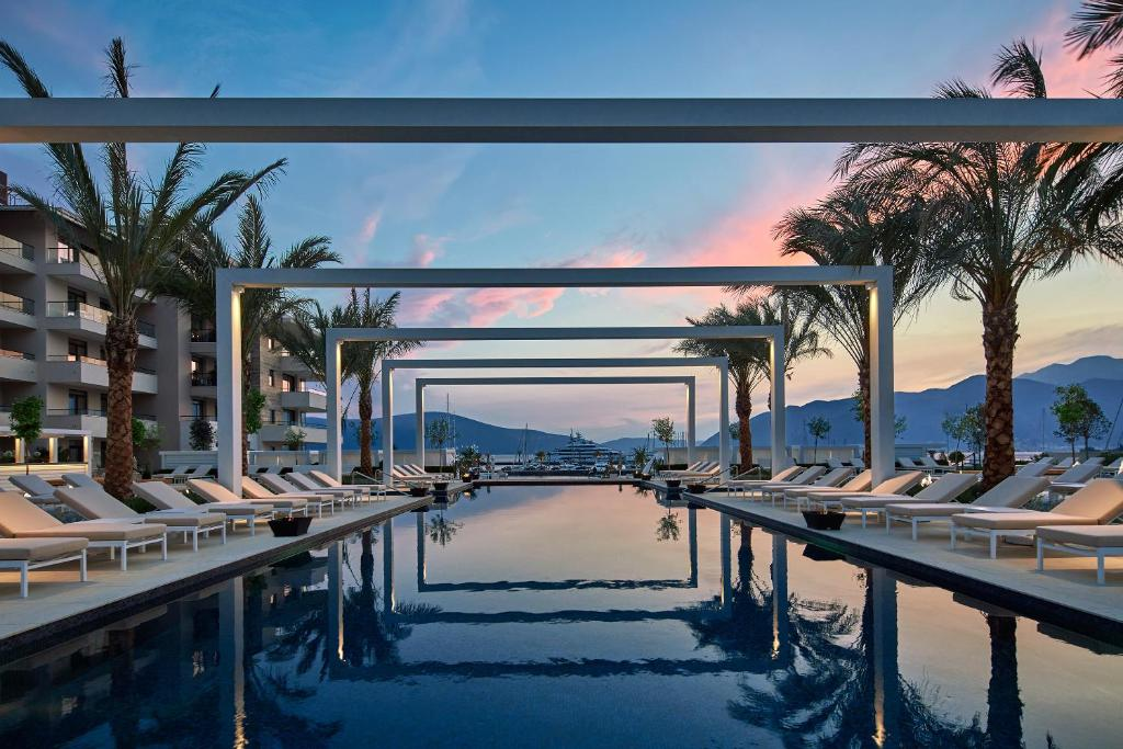 The swimming pool at or near Regent Porto Montenegro