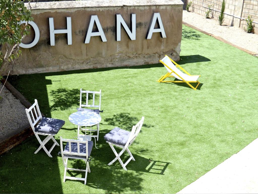 Jardín al aire libre en Ohana Apartamento Rural