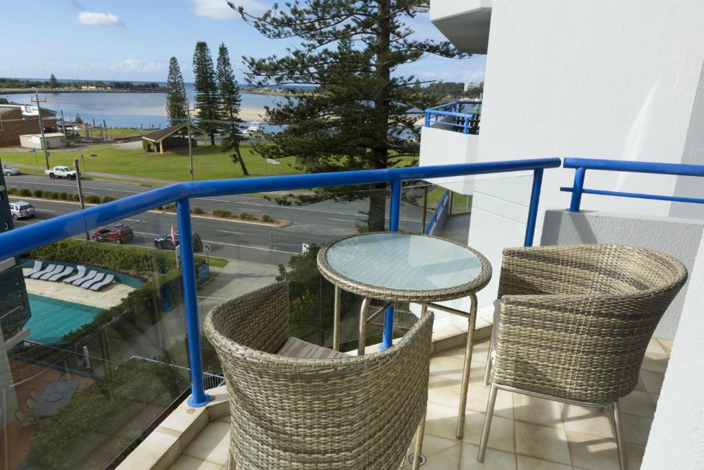 A balcony or terrace at The Heritage 503 / 18 Manning Street