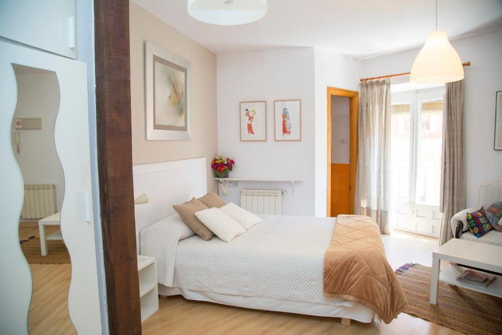Cama o camas de una habitación en Casa Garrote