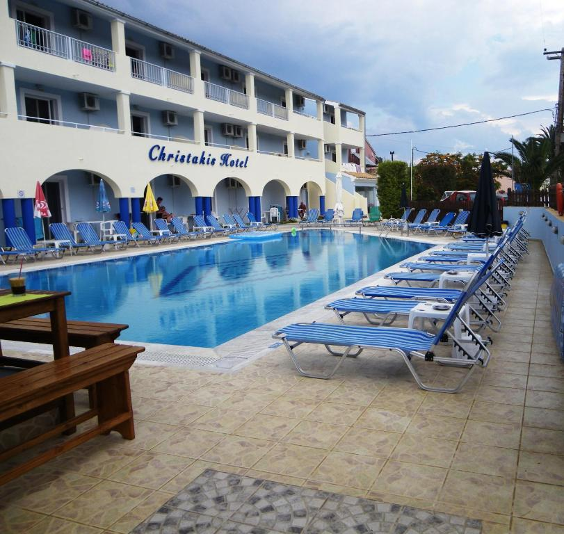 The swimming pool at or near Christakis