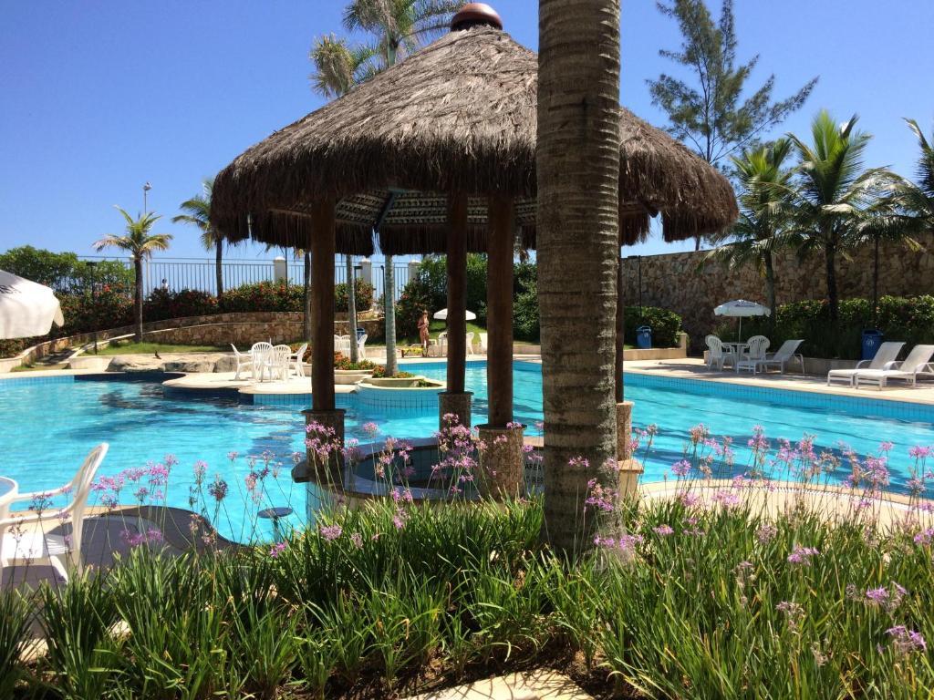 A piscina localizada em Flat Recreio ou nos arredores