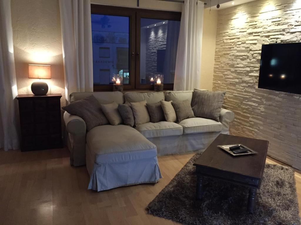 Ein Sitzbereich in der Unterkunft Appartement St. Barbara