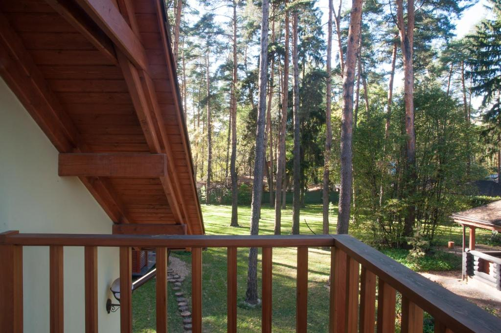 A balcony or terrace at Vacation home in Sosnovy bor