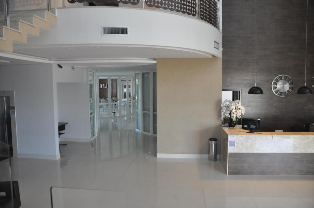 The lobby or reception area at Kamur Plaza Hotel