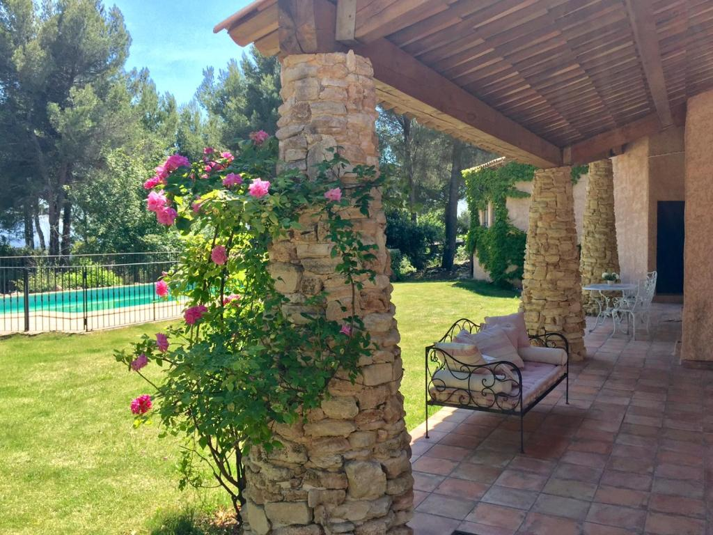 A garden outside Mas la Pinede