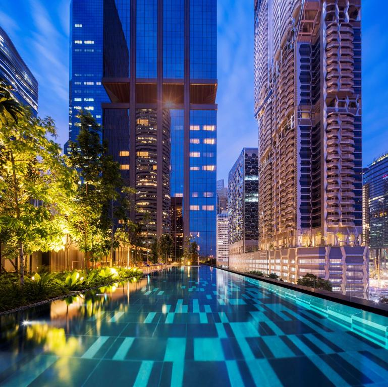 The swimming pool at or near Oakwood Premier AMTD Singapore (SG Clean, Staycation Approved)