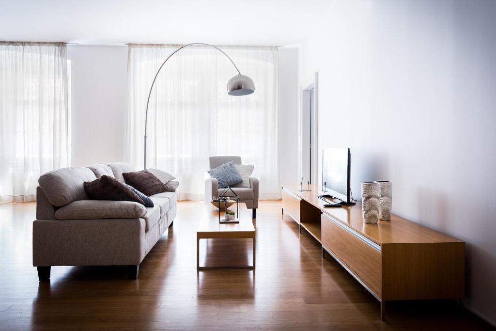Ein Sitzbereich in der Unterkunft Boris' apartments Powder Gate