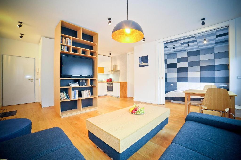 Część wypoczynkowa w obiekcie Kolibki Apartment - Hav Aparts