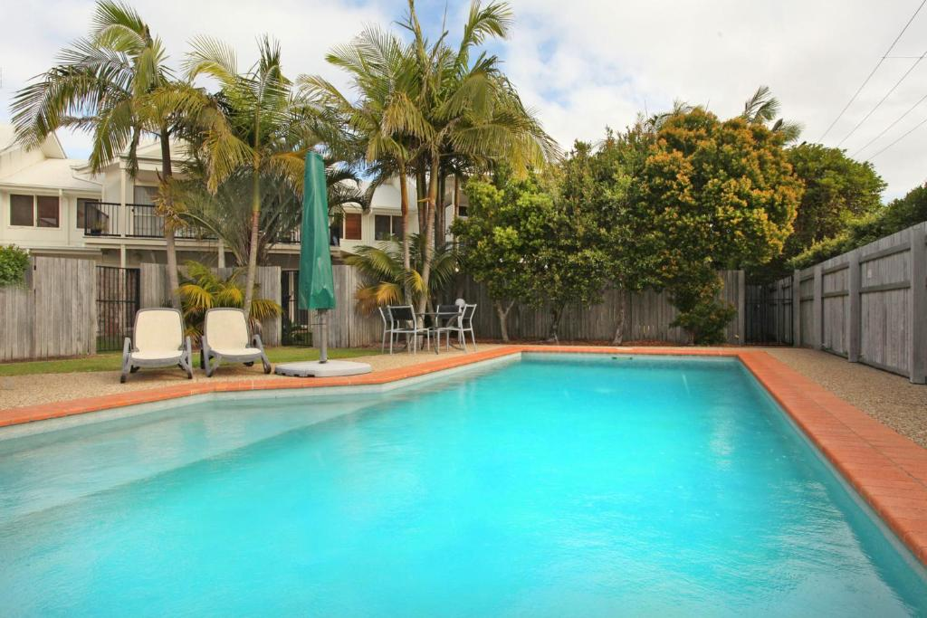 The swimming pool at or near Unit 9 Marcoola Shores 1 Flindersia Street Marcoola, 500 BOND, LINEN INCLUDED