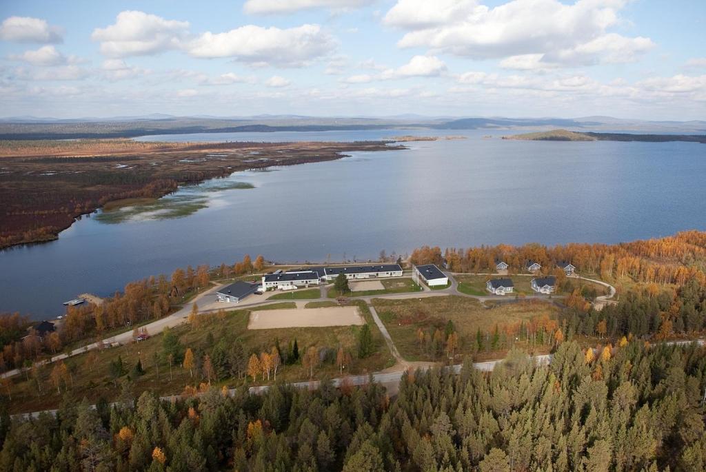 Majoituspaikan Youth Center Vasatokka kuva ylhäältä päin
