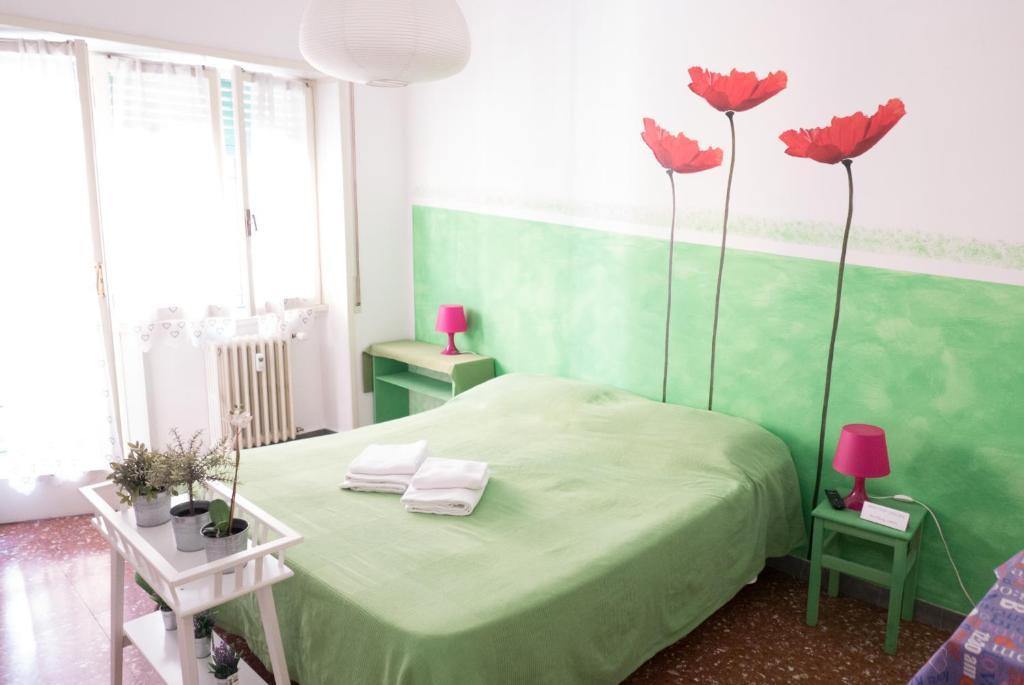 Cama o camas de una habitación en Next Stop Affittacamere Casilino