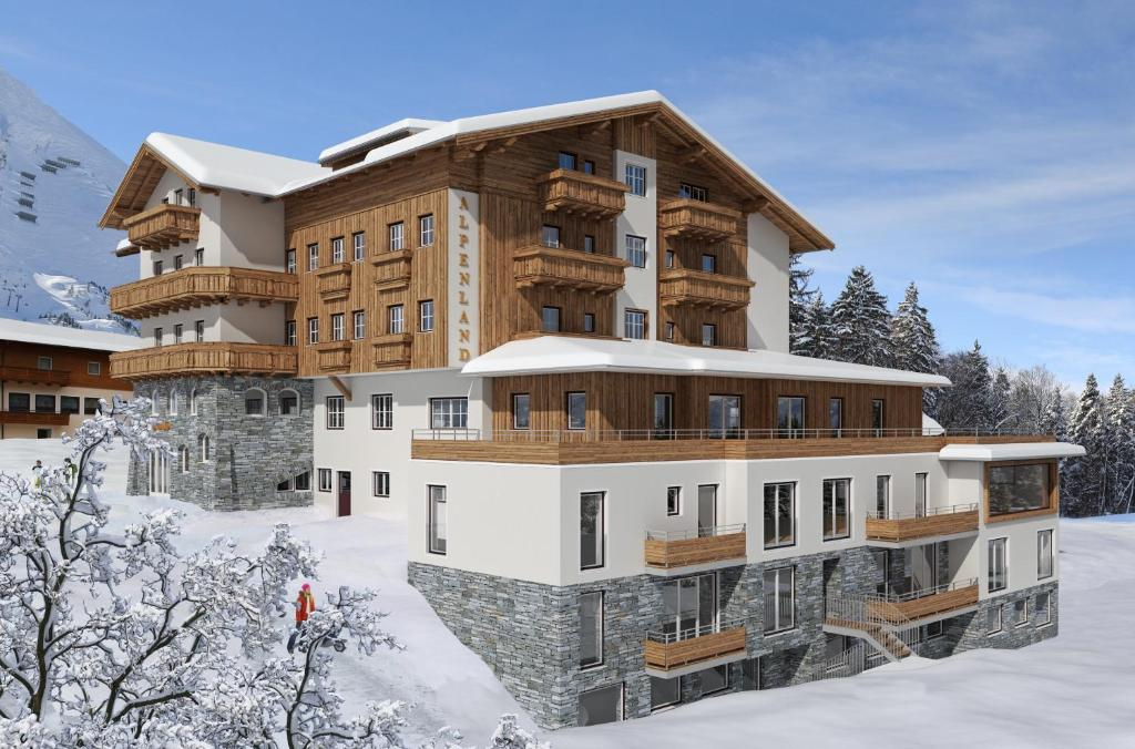 Hotel Alpenland during the winter