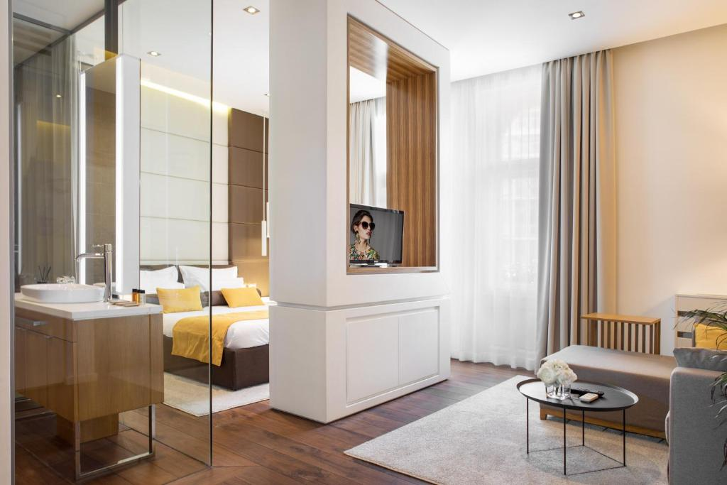 A seating area at Dominic Smart & Luxury Suites - Terazije