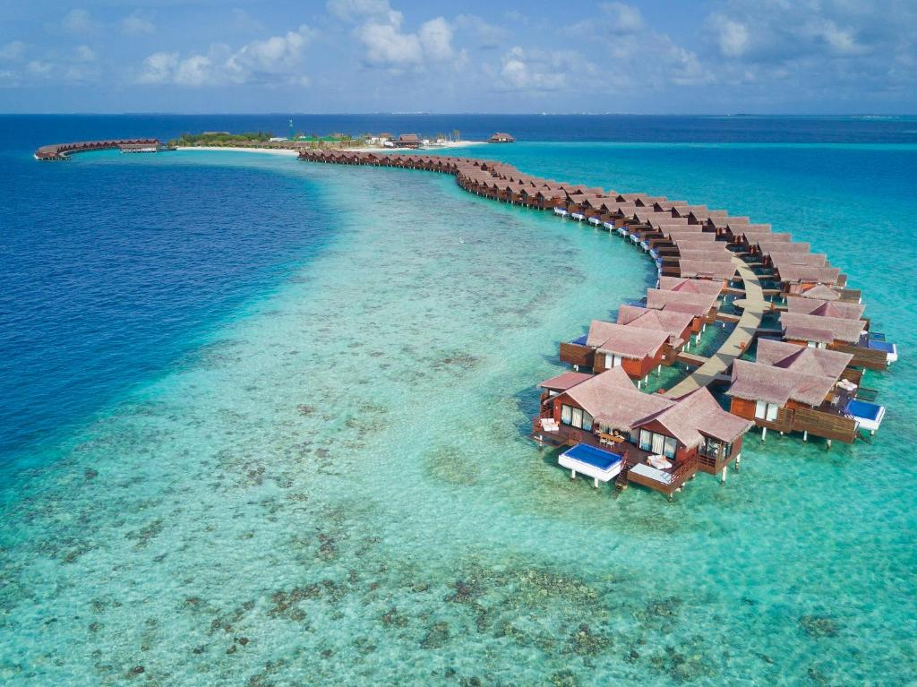 A bird's-eye view of Grand Park Kodhipparu, Maldives with 15% off on Transfers