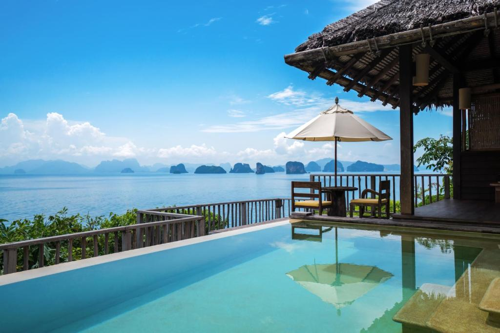 The swimming pool at or near Six Senses Yao Noi